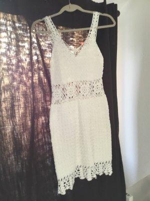 Vestido playero blanco puro-crema