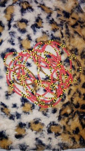 Chaîne de cheville multicolore