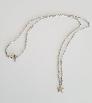 Handgemachte Kette mit Stern-Anhänger (Silberfarben)