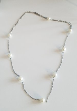 handmade Link Chain white-silver-colored