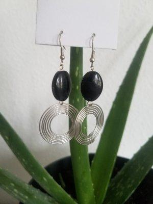 handmade Dangle black-silver-colored