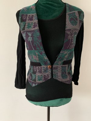 Chaleco de vestir verde oscuro-violeta oscuro