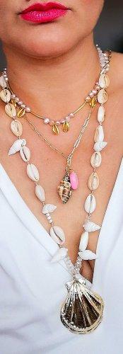 Collana di perle rosa pallido Cotone