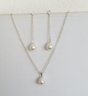 handmade Łańcuch srebrny-szary