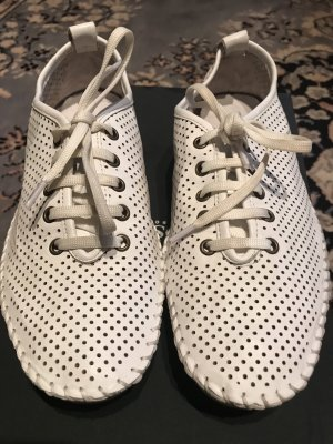 Handgenähte Schuhe Weiß Gr.37 Leder w.Neu
