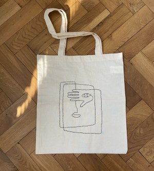 Burlap Bag natural white