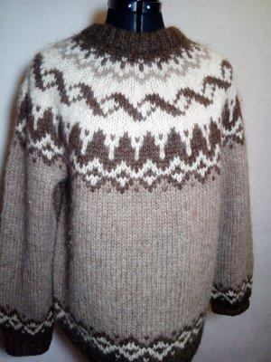 Unikat Maglione norvegese marrone chiaro