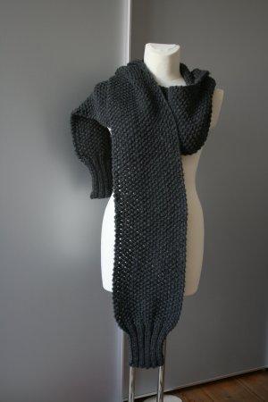 Bufanda con capucha multicolor lana de esquila
