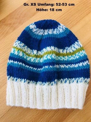 Cappello a maglia multicolore Lana