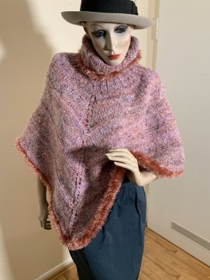 Knitted Poncho light pink-pink