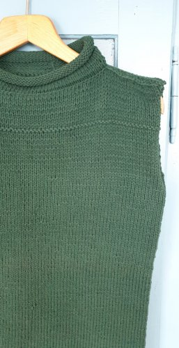 Long Cardigan forest green cotton