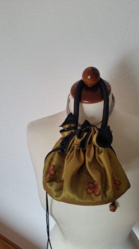 handmade Abendtasche Handtasche bestickt Goldfarben