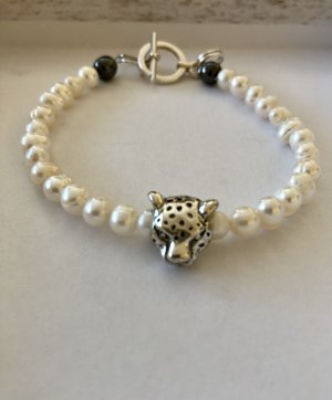 Armband wit-zilver