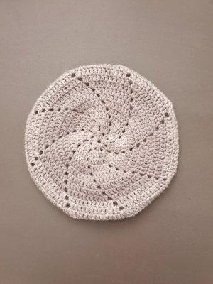 Handmade Baskenmütze mit Farbverlauf grau