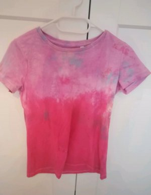 hessnatur Batik shirt framboosrood-roze