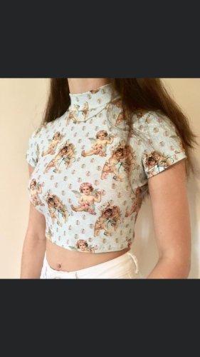 Handmade Cropped Shirt multicolored