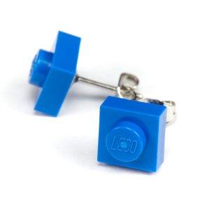 Designerstück Ear stud cornflower blue-blue