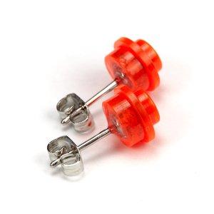 handmade Designer LEGO Ohrringe Ohrstecker Schmuck rhodiniert antiallergisch NEU