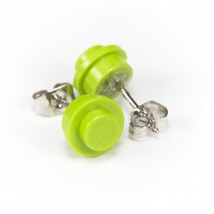 Designerstück Ear stud grass green-lime-green