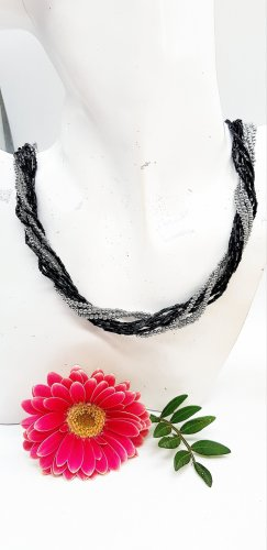 Handmade Collier de perles noir-argenté