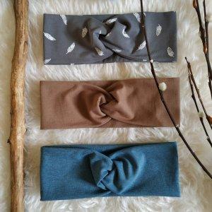 Bid Handmade Beanie grey-light brown