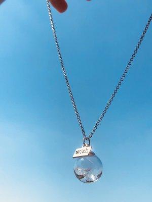 Handmade Kette romantisch Sommer Pusteblume Löwenzahn Natur Glaskugel Anhänger