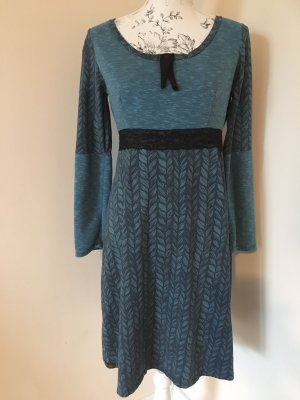 Handmade Kleid Gr. 36/38 petrol/ schwarz top