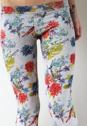 Handmade Leggings mit Vögelchen/Blumen-Print