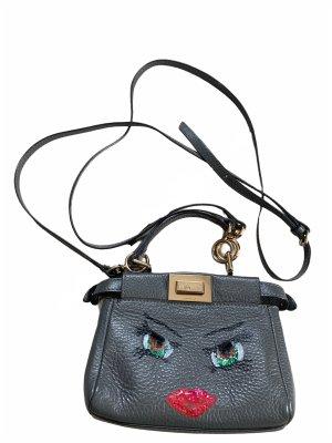 Handmade  luxury real leather mini bag hand painted