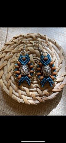 handmade Zdobione kolczyki Wielokolorowy