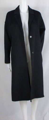 Zara Basic Oversized jas donkerblauw Wol