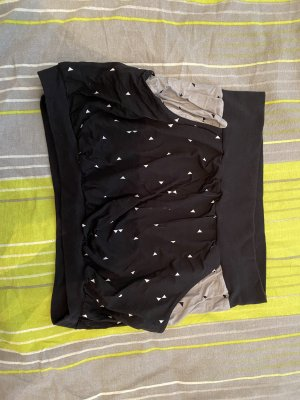 Falda globo negro