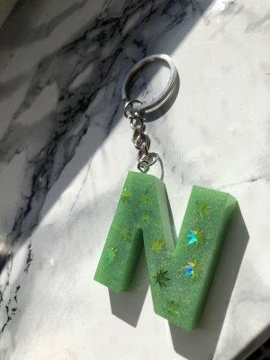 Handmade Sleutelhanger lichtgroen-groen