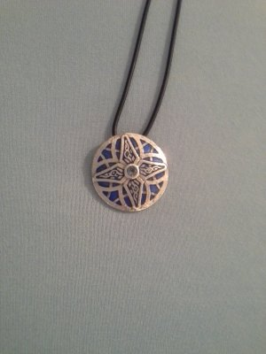 Medallion multicolored real silver