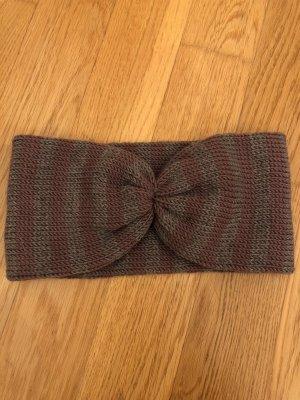 Handmade Stirnband Flieder Grau Lila