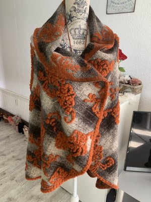 Handmade Weste/Cardigan - Fleece/Wolle - Grey/Bronze - FreeSize