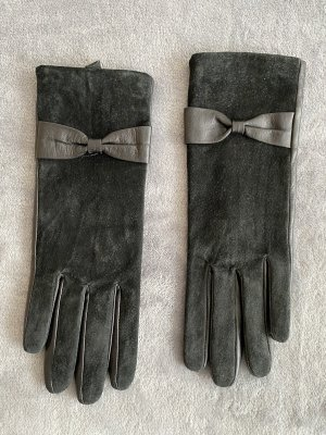 H&M Faux Leather Gloves black