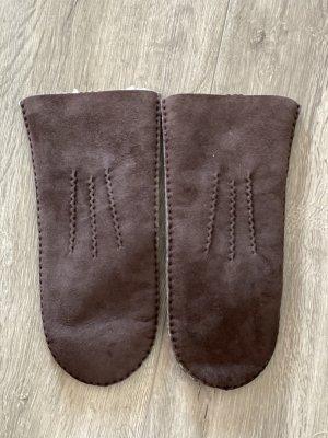Rękawiczki skórzane brązowy