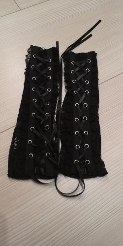 Claires Fingerless Gloves black