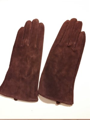 Bijou Brigitte Gloves dark red-brown red