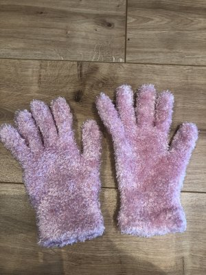 Knitted Gloves light pink-pink