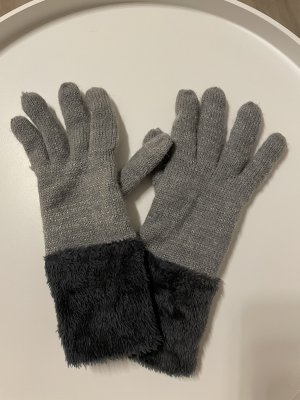 Padded Gloves grey-silver-colored