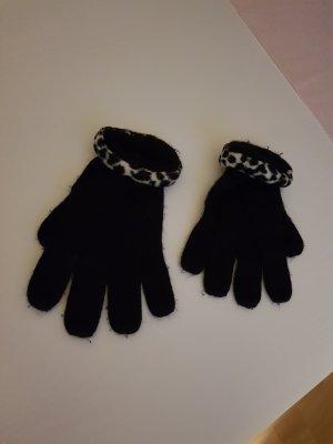 Guantes con dedos negro-gris