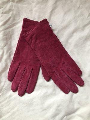 Handschuhe aus aufgerautem Leder