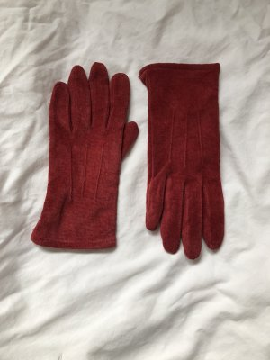 Leather Gloves dark red leather