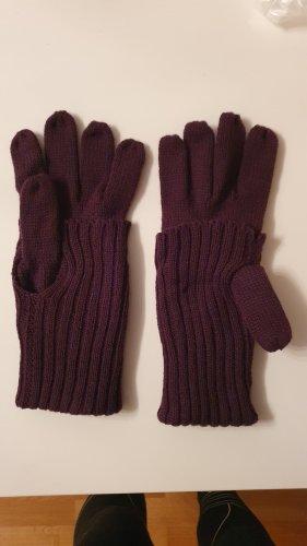 no name Gebreide handschoenen lila