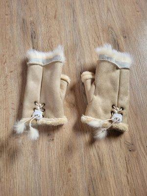 Fur Gloves beige