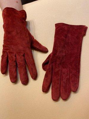 Leren handschoenen bordeaux