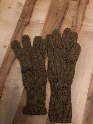 Guantes con dedos marrón