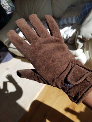 ohne Marke Rękawiczki z imitacji skóry ciemnobrązowy